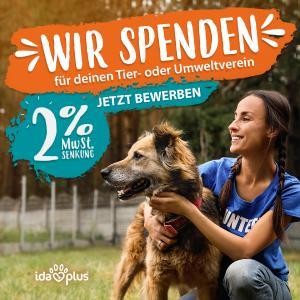 Mit Ida Plus für deinen Tier- oder Umweltverein spenden