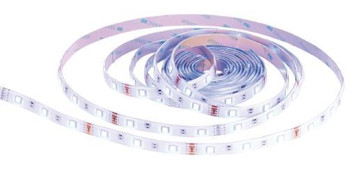 Luminea WLAN-LED-Streifen, RGBW (warmweiß), 5 m, komp. zu Alexa Voice Service