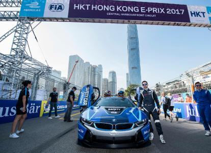 Formel E, Qualcomm BMW i8 Safety Car, Bruno Correia, Hongkong