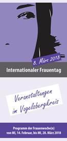 Buntes Programm rund um den Frauentag - Faltblatt zum Download