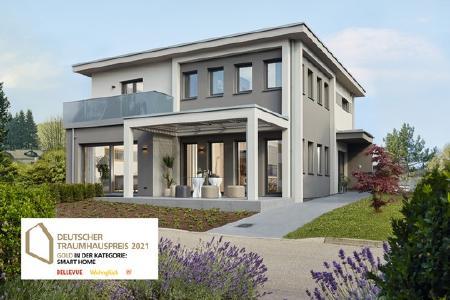 Beim Deutschen Traumhauspreis hat das Ausstellungshaus in Fellbach von WeberHaus Gold erhalten