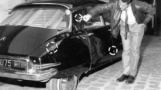 De Gaulles DS nach dem Angriff von Petit Clamart