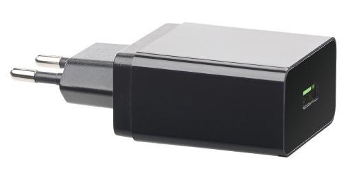 revolt 230-V-USB-Netzteil, Quick Charge 3.0, 3,6 - 12 Volt, max. 3 A / 19,5 W