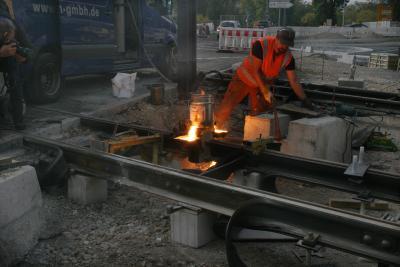 Stadtbahn Rotteckring: Letzte Schweißnaht geschlossen