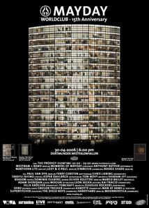 Das MAYDAY-Plakat von 2006 mit der Foto-Montage Gurskys