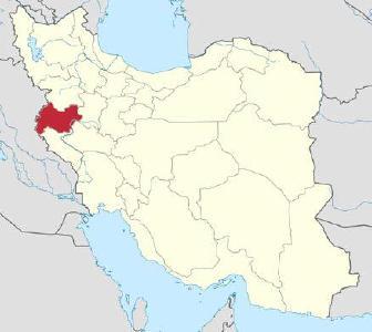 "Lage der Provinz Kermanshah im Iran / © Grafik: TUBS/Wikimedia Commons / Quelle ""APD"""