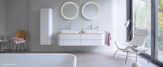 So schön sieht ein ordentliches Bad aus. Hier von Duravit Happy D.2 Plus