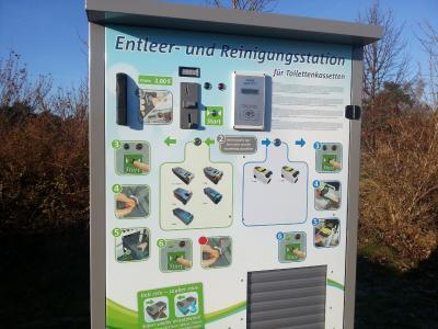 Einzige vollautomatische Reinigungsstation für alle Thetford Dometic Kassettenformate