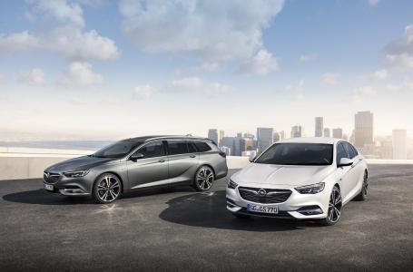 Dynamisches Duo: Der Opel Insignia Sports Tourer und der Insignia Grand Sport haben auf dem Genfer Automobilsalon ihren ersten Auftritt vor großem Publikum