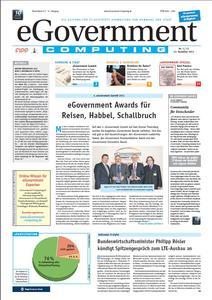 Die Titelseite der Jubiläumsausgabe von eGovernment Computing