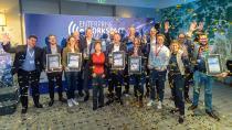 Gewinner des Enterprise Workspace Awards 2019 mit der ersten deutschen ISS-Astronautin Suzanna Randall (Mitte), Fotograf: Marko Kovic - Bildnachweis: Marko's Photography