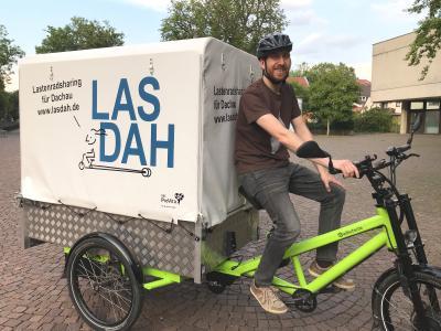 Jan van Meerendonk ist überzeugter Lastenrad-Nutzer und einer der Initiatoren von Lasdah.