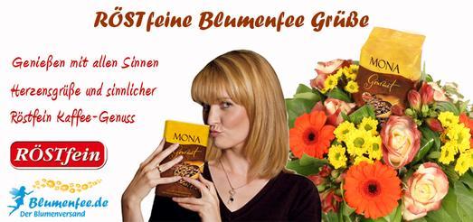 Blumenfee-Der Blumenversand und RÖSTfein Kaffee Kooperation 2014