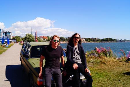 Eicca Toppinen von Apocalyptica und Bassist Lauri Porra (c Ulrike Neubecker)