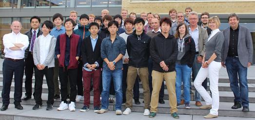 Die Teilnehmerinnen und Teilnehmer der japanisch-deutschen Projektwoche an der Hochschule Osnabrück