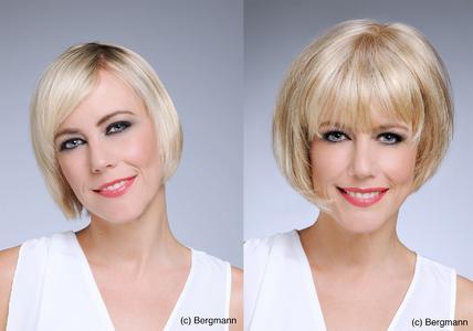 Bergmann Kundin mit Volumenproblem vorher und nachher mit Haartechnik HairPlus1