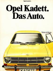 """Klare Sache: Den Kadett B bewirbt Opel bereits im Jahr 1969 kurz und knackig mit dem Slogan """"Das Auto."""". Foto Opel AG"""