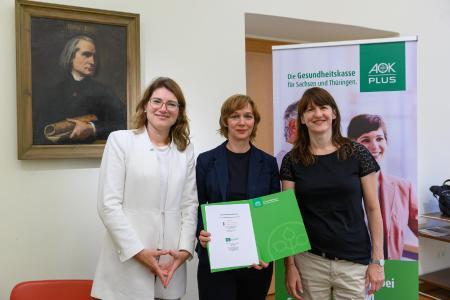 (Foto: Maik Schuck). Von links nach rechts: Alexandra Krumbein, Christiane Kraft und Christine Gurk