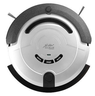 Sichler Haushaltsgeräte Staubsauger-Roboter PCR-3500 mit Bürst- & Wischfunktion, 200 ml Wassertank