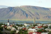 Blick auf die Stadt Reykjavik