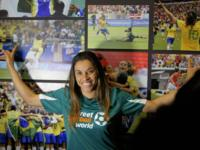 Football Star Marta shines the spotlight on the social power of football as she opens streetfootballworld's Football for Equality Plaza in central Rio
