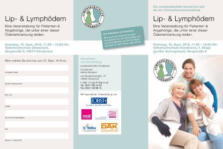 Flyer Patientenveranstaltung Lip- & Lymphödem am 10. September