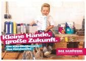 Ob Bäcker, Maler oder Augenoptiker: Das Handwerk bietet über 130 spannende Arbeitsfelder, die es zu entdecken gilt. (Quelle: www.amh-online.de/kita-wettbewerb)