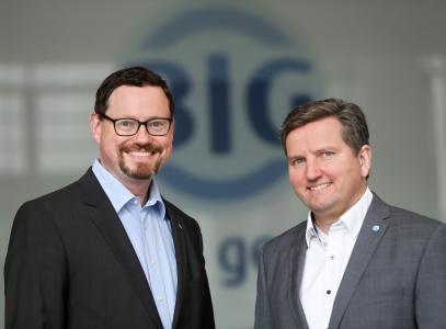 Peter Kaetsch (rechts), Vorstandsvorsitzender der BIG und Markus Bäumer, stellvertretender Vorstandsvorsitzender