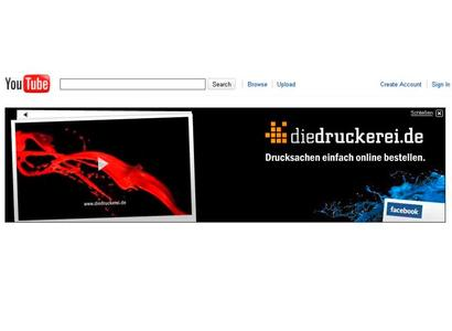 diedruckerei.de wirbt mit TV-Spot auf YouTube