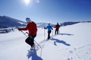 Schneeschuhwandern rund um Oberstaufen im Allgäu
