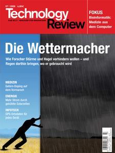 Das Titelbild der aktuellen Technology-Review-Ausgabe 7/2008