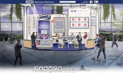 Virtueller Messestand der JUMO GmbH & Co. KG