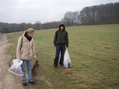 Die Freiwilligen des Einsatzjahres 2006/2007 Tabea Machel und Florian Wiese im Müritz-Nationalpark