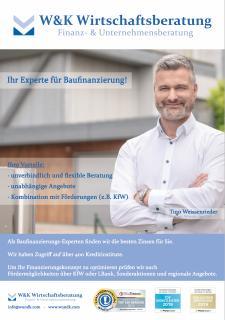 Immobilienfinanzierung und Baufinanzierung Tino Weissenrieder, Geschäftsführer der W&K Wirtschaftsberatung GmbH&Co.KG, Friedhofstraße 32/2, 77933 Lahr, Tel.:078219219214 , tw@wundk.com, www.wundk.com