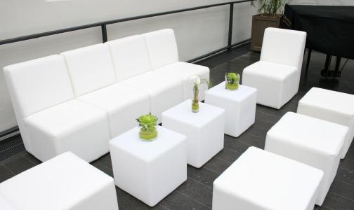 Lounge-Mietmöbel White