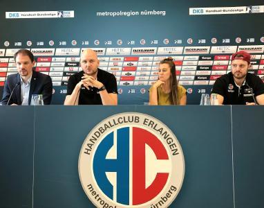 HC Erlangen –  Pressekonferenz zum Spiel gegen die Füchse Berlin, Foto: HJKrieg, Erlangen