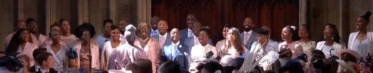 Gospel Chor Kingdom Choir mit Paul Lee bei der Hochzeitsfeier in Windsor / © Screenshot: https://www.youtube.com/watch?time_continue=21&v=odZ9GVuyfkc