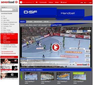 DSF eröffnet Handball-Channel bei sevenload