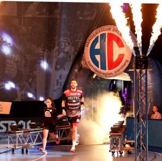 Sime Ivic – Ein starker Auftritt und mit sieben Feldtoren bester Erlanger (Foto: HC Erlangen, Jocki)