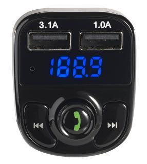 ZX 1670 5 auvisio 3in1 Kfz FM Transmitter Freisprecher m Bluetooth Ladegerät mit App