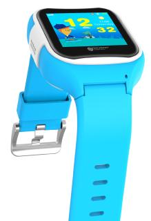 TrackerID Kinder-Smartwatch PW-130.kids mit GPS-/GSM-/WiFi-Tracking, SOS-Taste, blau, IP65