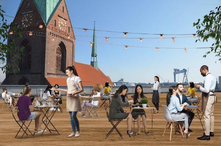 Einer der ersten Preise ging mit dem Projekt KielPlus an die TH-Studierenden Verena Christin Beythien, Linn Grönheim und Julia Rönneburg. Grafik: Beythien, Grönheim, Rönneburg