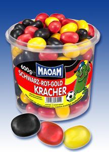 """MAOAM """"SCHWARZ-ROT-GOLD KRACHER"""""""