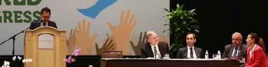 Podium der Nebensitzung des 8. Weltkongresses für Religionsfreiheit © Foto: Mylon Medley/Adventist News Network