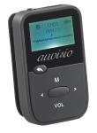 auvisio 2in1-Audio-Player & Sprachrekorder DMP-190.rec, MP3/WMA/WAV, LCD-Display, microSD