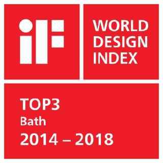 Die Hansgrohe Group belegt beim iF WORLD DESIGN INDEX 2014 – 2018 des International Forum Design (iF) Top-Platzierungen / Der Schiltacher Armaturen- und Brausenspezialist ist unter den Top 3 gelisteten Unternehmen in der iF Kategorie INDUSTRY: Bath (Industrie: Bad)