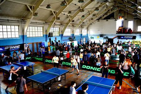Tischtennis-Action in der Patton Hall ©Steffen Ehrenpreis