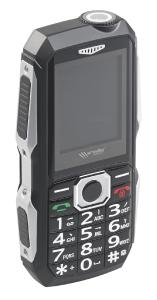 simvalley MOBILE Stoßfestes Outdoor-Handy XT-300, Dual-SIM-Funktion, Bluetooth, FM-Radio, IP67
