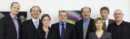 From left:  Arturas Piliponis (Ernst & Young Baltic), Prof. Martin Leitner (HIS), Julija Umbrasaitė (MOSTA), Linas Šneideris (Ernst & Young Baltic), Harald Gilch (HIS), Jurgita Petrauskienė (MOSTA), Peter Müßig-Trapp (HIS), Dominic Orr (HIS)