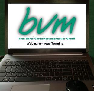 Webinartermine von und mit bvm Bartz Versicherungsmakler GmbH - Spezialmakler für Landwirtschaft und Agrarwirtschaft